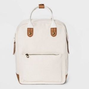 Cream Backpack/Laptop back